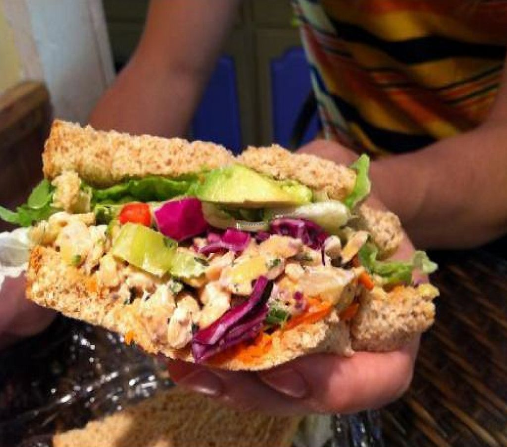 "Photo of Fairweather Natural Foods  by <a href=""/members/profile/Meggie%20and%20Ben"">Meggie and Ben</a> <br/>Vegan chicken salad sandwich <br/> January 6, 2012  - <a href='/contact/abuse/image/17779/211151'>Report</a>"
