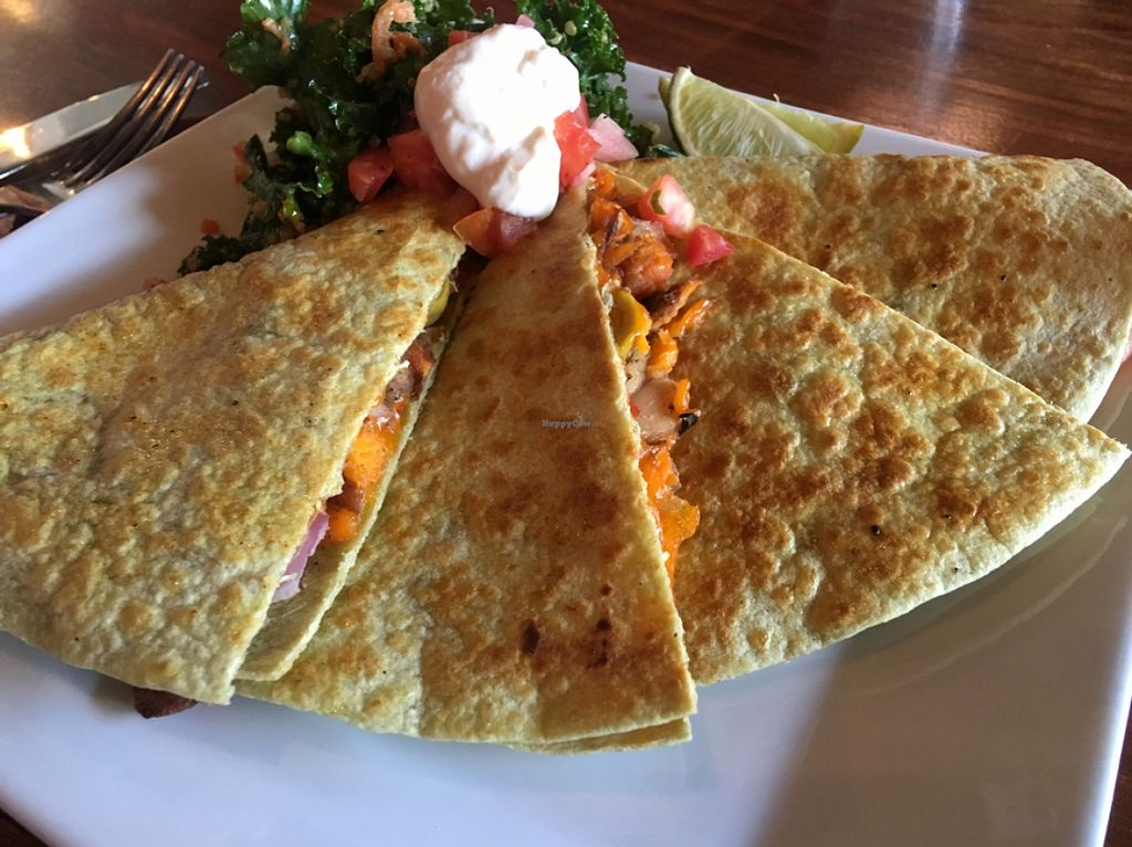 """Photo of ION - It's Only Natural Restaurant  by <a href=""""/members/profile/Stacie99"""">Stacie99</a> <br/>yam quesadillas w black beans and kale&quinoa  <br/> April 20, 2016  - <a href='/contact/abuse/image/1780/145515'>Report</a>"""