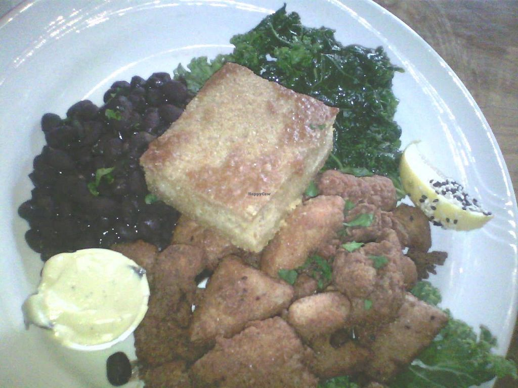 """Photo of ION - It's Only Natural Restaurant  by <a href=""""/members/profile/Bahm"""">Bahm</a> <br/>Southern Fried Tofu Platter aka the most beautiful thing in the world. That mustard dipping sauce is HEAVEN.  <br/> February 28, 2015  - <a href='/contact/abuse/image/1780/94392'>Report</a>"""