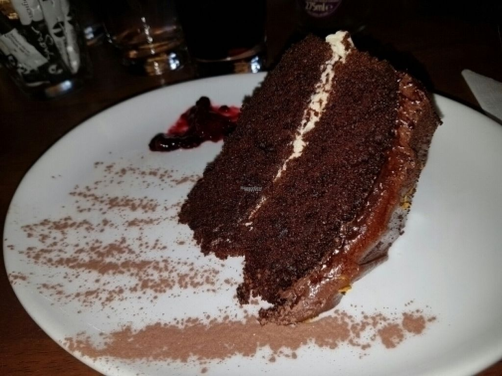 """Photo of Goji Vegetarian Cafe and Deli  by <a href=""""/members/profile/Good%20for%20Vegans"""">Good for Vegans</a> <br/>Chocolate and orange cake <br/> August 3, 2016  - <a href='/contact/abuse/image/17816/165098'>Report</a>"""