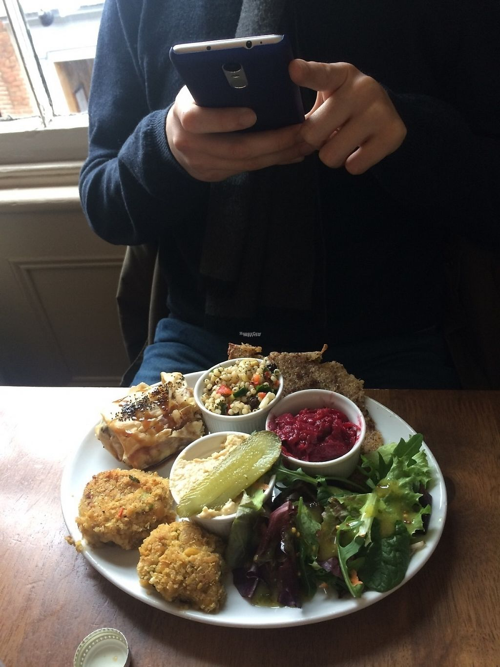 """Photo of Goji Vegetarian Cafe and Deli  by <a href=""""/members/profile/DalmaF"""">DalmaF</a> <br/>Hummus, falafel, tabbouleh, beetroot etc. lots of yummy things <br/> March 22, 2017  - <a href='/contact/abuse/image/17816/239505'>Report</a>"""
