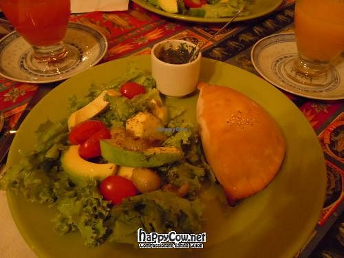 "Photo of Quinua y Amaranto  by <a href=""/members/profile/jrfishe1"">jrfishe1</a> <br/>Salad and empanada. Soup not pictured <br/> June 12, 2012  - <a href='/contact/abuse/image/17821/33253'>Report</a>"