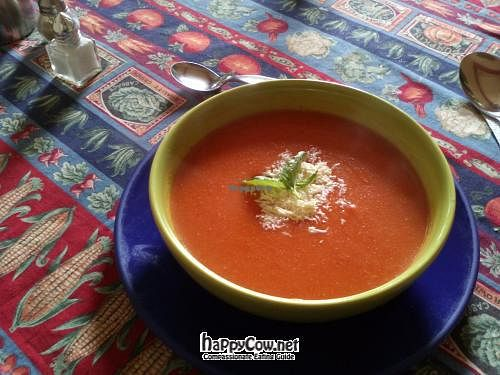 "Photo of Quinua y Amaranto  by <a href=""/members/profile/Fibonacci"">Fibonacci</a> <br/>Tomato soup with grated cheese and a couple of spearmint leaves <br/> August 2, 2012  - <a href='/contact/abuse/image/17821/35368'>Report</a>"