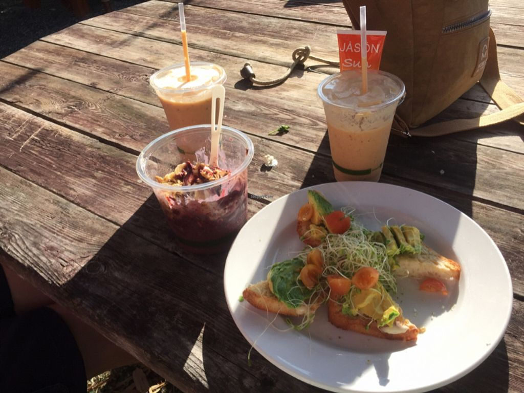 "Photo of Eat Healthy Kauai  by <a href=""/members/profile/MaryPelletier"">MaryPelletier</a> <br/>avocado toast, acai bowl, and two papaya smoothies <br/> March 9, 2016  - <a href='/contact/abuse/image/17833/139464'>Report</a>"