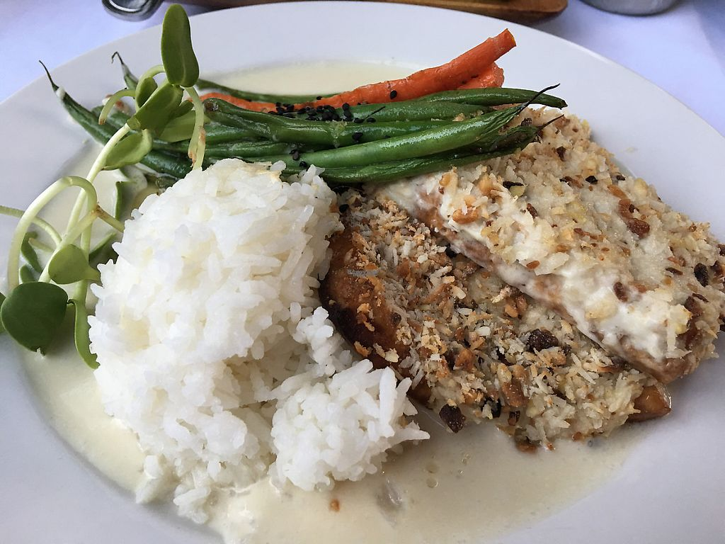 "Photo of Eat Healthy Kauai  by <a href=""/members/profile/myra975"">myra975</a> <br/>Coconut Mac Nut w/Tofu  - Served with local veg, rice, coconut cream sauce <br/> March 14, 2017  - <a href='/contact/abuse/image/17833/236515'>Report</a>"