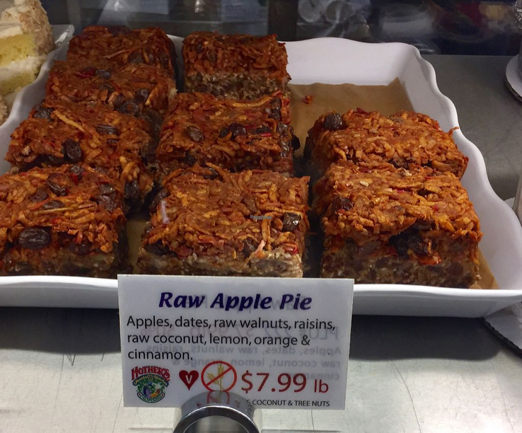 """Photo of Mother's Market - Santa Ana  by <a href=""""/members/profile/VeganCookieLover"""">VeganCookieLover</a> <br/>Raw Apple Pie  <br/> February 6, 2017  - <a href='/contact/abuse/image/17863/223682'>Report</a>"""