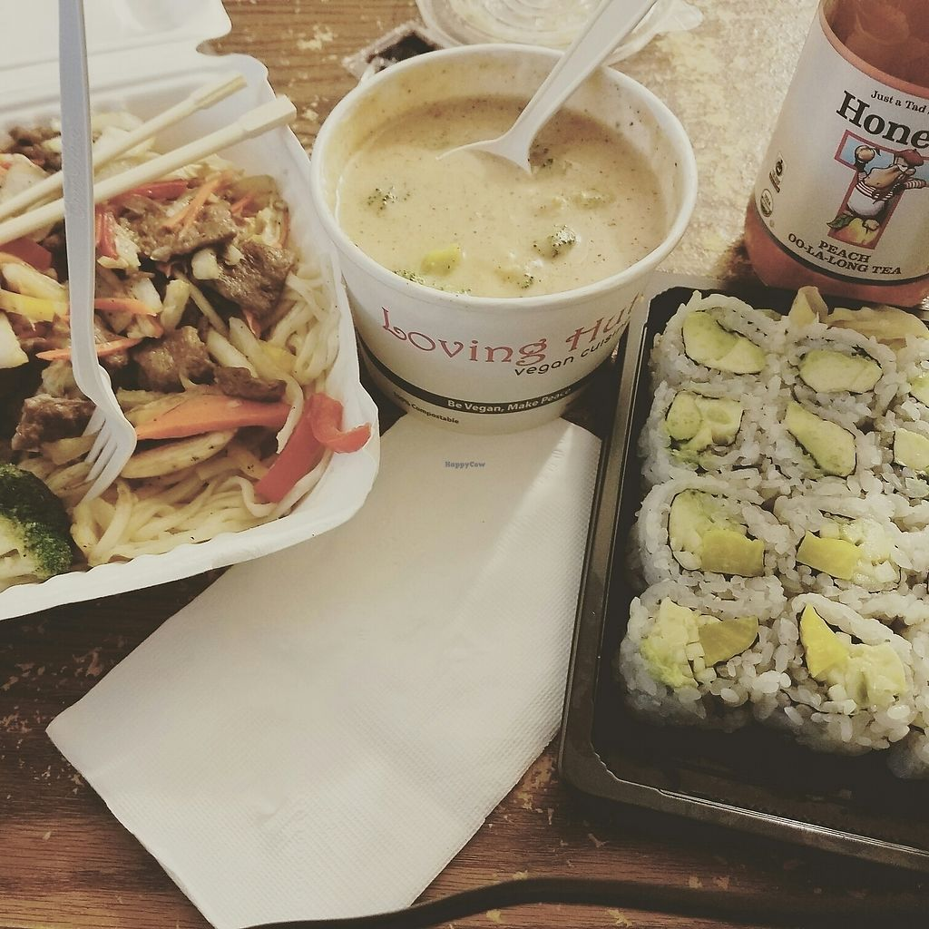 """Photo of Loving Cafe  by <a href=""""/members/profile/lyssg"""">lyssg</a> <br/>broccoli soup, pad Thai noodles <br/> July 12, 2017  - <a href='/contact/abuse/image/17899/279637'>Report</a>"""