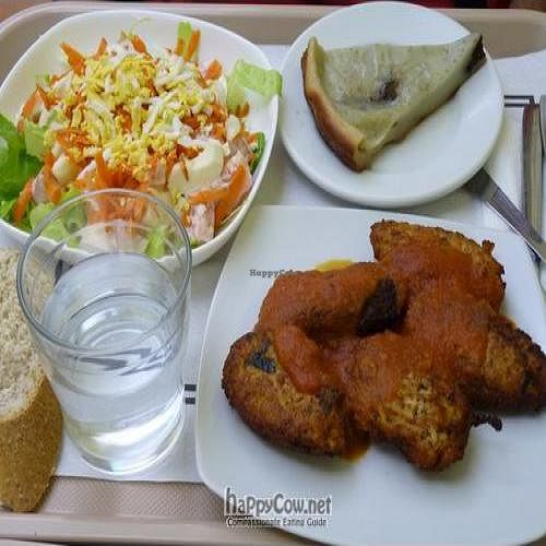 """Photo of La Olla Vegetal  by <a href=""""/members/profile/Nihacc"""">Nihacc</a> <br/>Russian salad, soy fritters with tomato sauce, and fig pie <br/> September 25, 2011  - <a href='/contact/abuse/image/17908/10810'>Report</a>"""