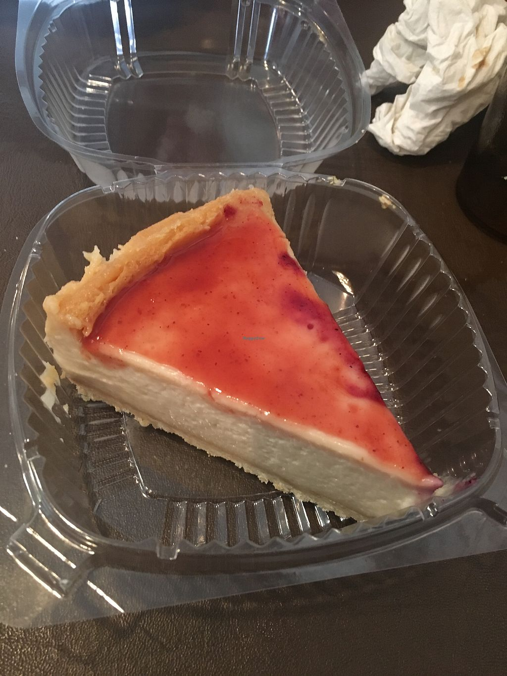 "Photo of NuVegan  by <a href=""/members/profile/mem2024"">mem2024</a> <br/>Strawberry cheesecake - couldn't believe it was vegan <br/> April 8, 2018  - <a href='/contact/abuse/image/1790/382630'>Report</a>"