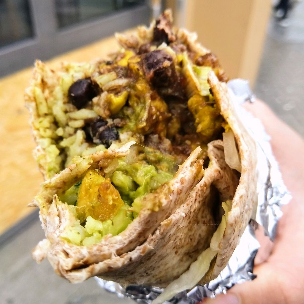 """Photo of Dolores  by <a href=""""/members/profile/Zjef"""">Zjef</a> <br/>wholegrain burrito with cilantro rice, marinated soy meat and avocado <br/> April 15, 2018  - <a href='/contact/abuse/image/17917/386172'>Report</a>"""