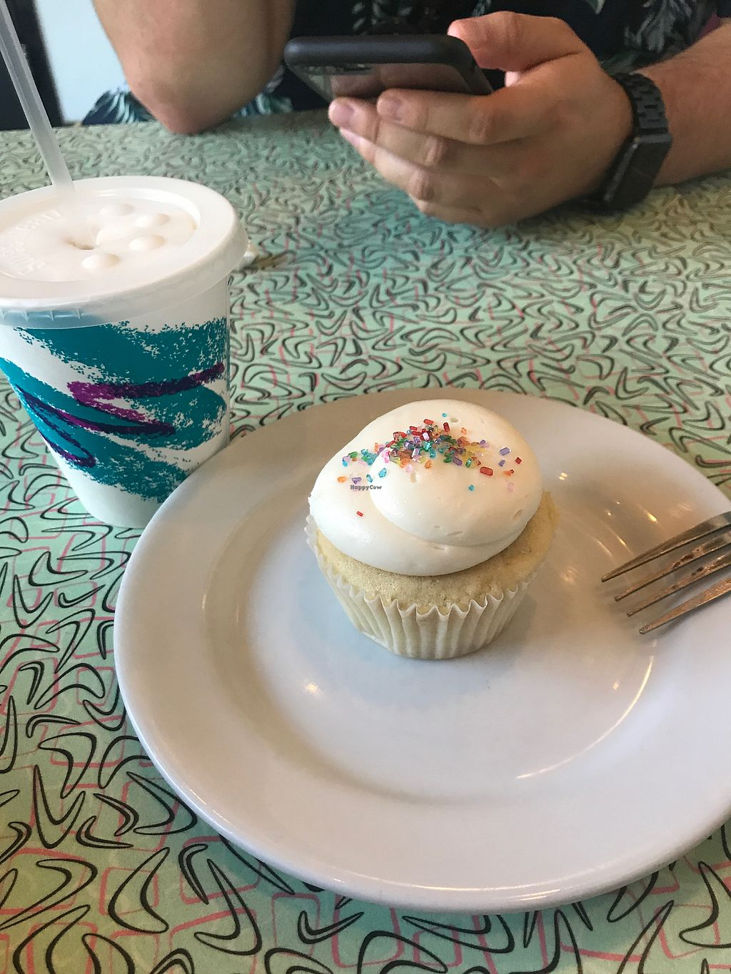 """Photo of Sticky Fingers Bakery  by <a href=""""/members/profile/GenChandy"""">GenChandy</a> <br/>Vanilla milkshake and cupcake  <br/> September 4, 2017  - <a href='/contact/abuse/image/1792/300696'>Report</a>"""