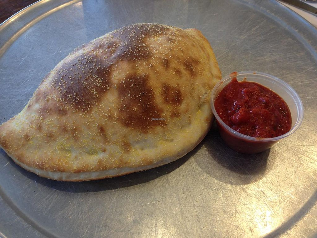 Photo of Classic Slice Pizza  by RamblingVegans <br/>Vegan calzone <br/> March 22, 2014  - <a href='/contact/abuse/image/18000/66336'>Report</a>