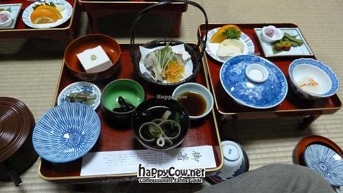 """Photo of Koyasan Temples  by <a href=""""/members/profile/Shauna333"""">Shauna333</a> <br/>Dinner set at Shojoshin-in <br/> June 1, 2012  - <a href='/contact/abuse/image/18002/32642'>Report</a>"""