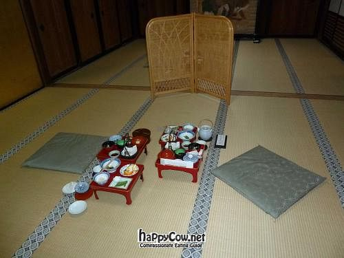 """Photo of Koyasan Temples  by <a href=""""/members/profile/Shauna333"""">Shauna333</a> <br/>Dinner set for 2 at Shojoshin-in <br/> June 1, 2012  - <a href='/contact/abuse/image/18002/32643'>Report</a>"""