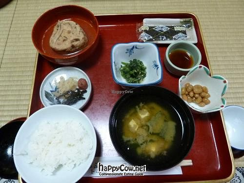 """Photo of Koyasan Temples  by <a href=""""/members/profile/Shauna333"""">Shauna333</a> <br/>Breakfast at Shojoshin-in <br/> June 1, 2012  - <a href='/contact/abuse/image/18002/32644'>Report</a>"""