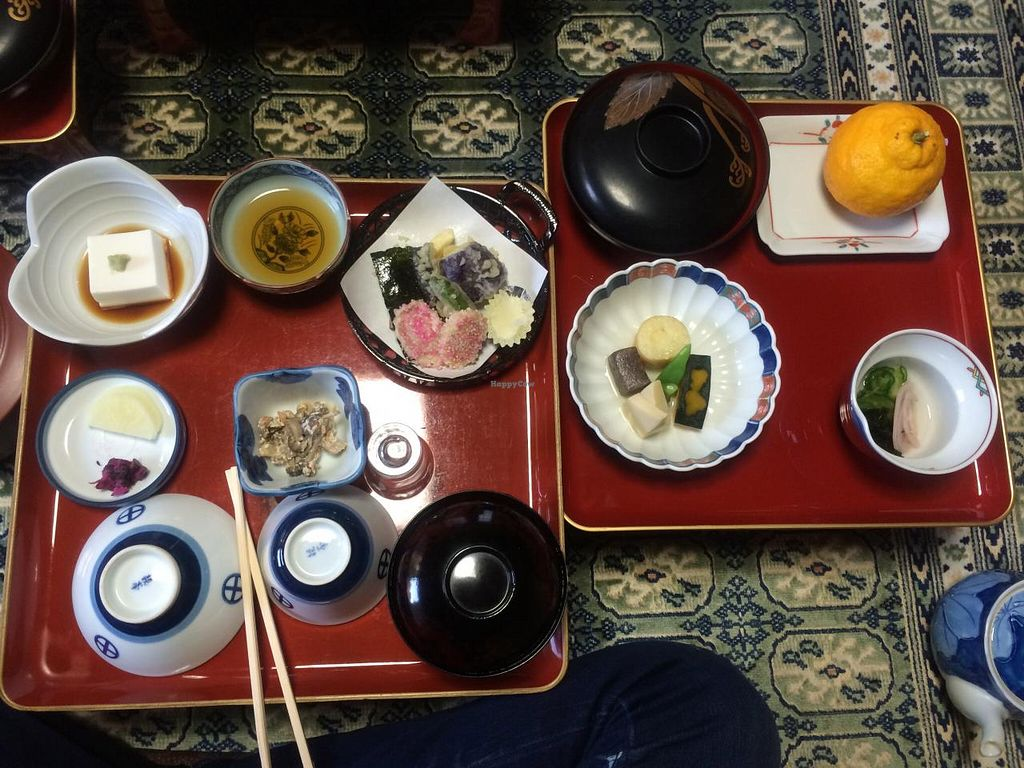 """Photo of Koyasan Temples  by <a href=""""/members/profile/Meggie%20and%20Ben"""">Meggie and Ben</a> <br/>Dinner at Ekoin <br/> December 31, 2014  - <a href='/contact/abuse/image/18002/89132'>Report</a>"""