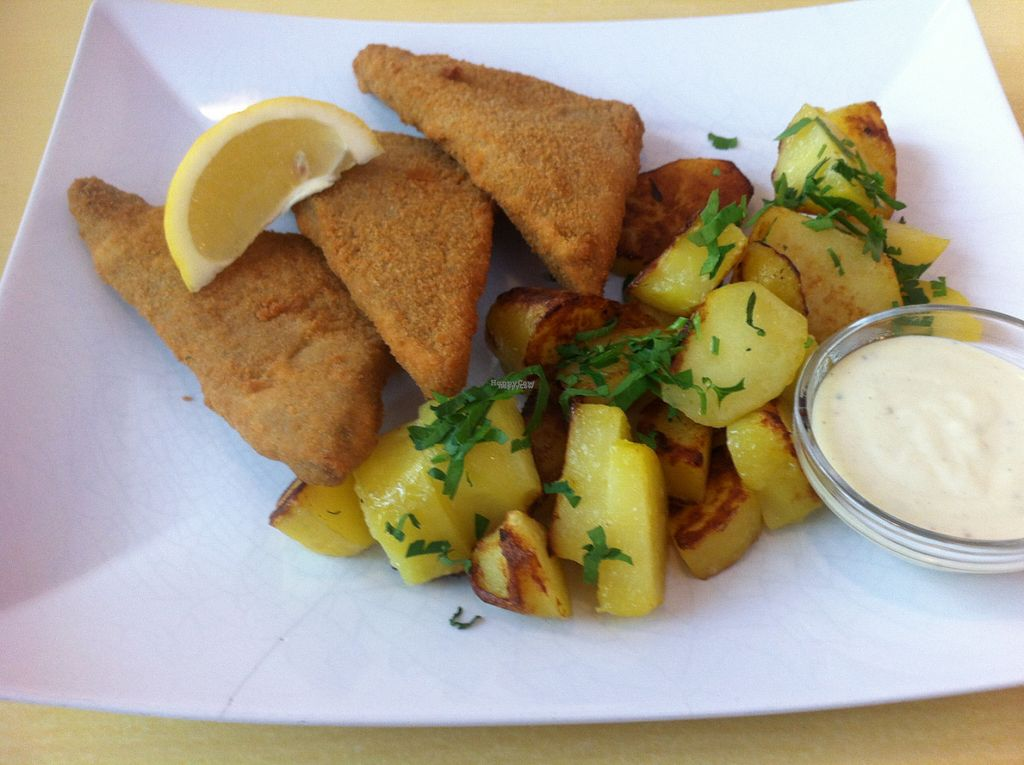 """Photo of Landia  by <a href=""""/members/profile/piffelina"""">piffelina</a> <br/>Schnitzel, recommended by the waitress. Tasted great! <br/> August 2, 2016  - <a href='/contact/abuse/image/18004/164483'>Report</a>"""