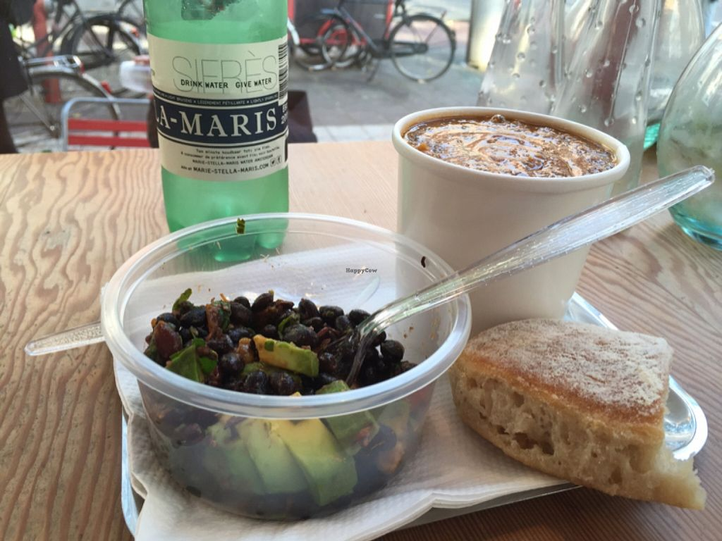 """Photo of Soup en zo - Jodenbreestraat  by <a href=""""/members/profile/ElizabethMae"""">ElizabethMae</a> <br/>Soup and avocado 'salad' <br/> October 26, 2015  - <a href='/contact/abuse/image/18006/122748'>Report</a>"""