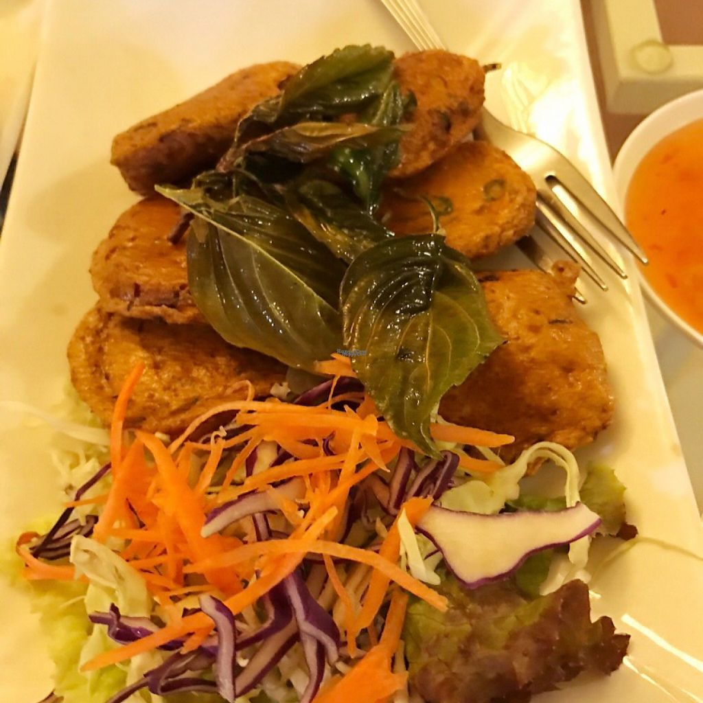 """Photo of Loving Hut - Bang Kholaem  by <a href=""""/members/profile/BCsin"""">BCsin</a> <br/>Traditional Thai Fish Cake <br/> February 12, 2017  - <a href='/contact/abuse/image/18022/225772'>Report</a>"""