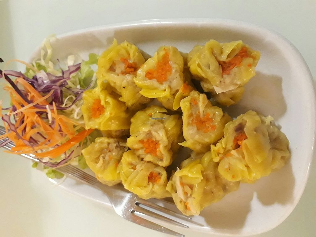 """Photo of Loving Hut - Bang Kholaem  by <a href=""""/members/profile/LilacHippy"""">LilacHippy</a> <br/>Kanom jeeb (dumplings) <br/> August 18, 2017  - <a href='/contact/abuse/image/18022/293846'>Report</a>"""