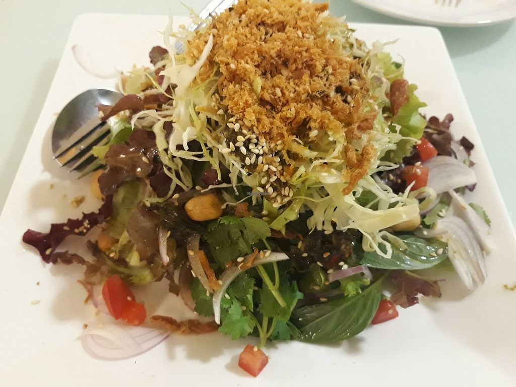 """Photo of Loving Hut - Bang Kholaem  by <a href=""""/members/profile/LilacHippy"""">LilacHippy</a> <br/>Burmese tea leaf salad <br/> August 18, 2017  - <a href='/contact/abuse/image/18022/293848'>Report</a>"""
