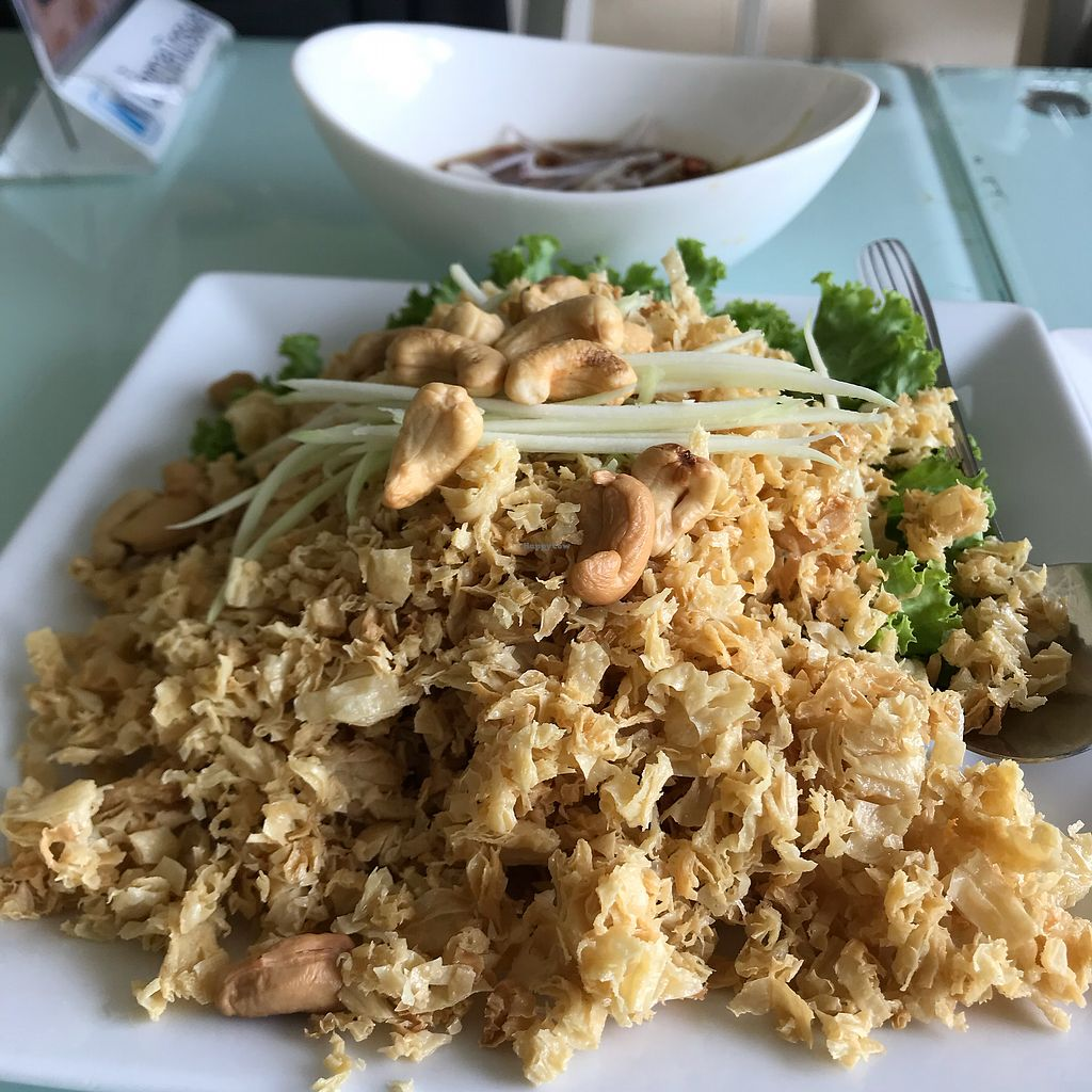 """Photo of Loving Hut - Bang Kholaem  by <a href=""""/members/profile/VanessaWinkler"""">VanessaWinkler</a> <br/>Vegan catfish with green mango <br/> February 25, 2018  - <a href='/contact/abuse/image/18022/363705'>Report</a>"""