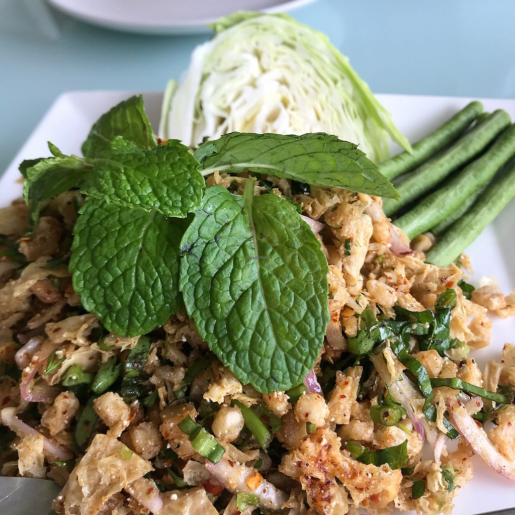 """Photo of Loving Hut - Bang Kholaem  by <a href=""""/members/profile/VanessaWinkler"""">VanessaWinkler</a> <br/>The mushroom larb  <br/> February 27, 2018  - <a href='/contact/abuse/image/18022/364605'>Report</a>"""