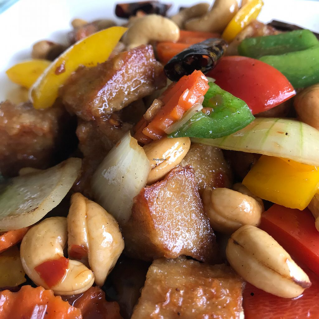 """Photo of Loving Hut - Bang Kholaem  by <a href=""""/members/profile/VanessaWinkler"""">VanessaWinkler</a> <br/>Mockmeat Chicken with Cashew Nuts <br/> February 27, 2018  - <a href='/contact/abuse/image/18022/364608'>Report</a>"""
