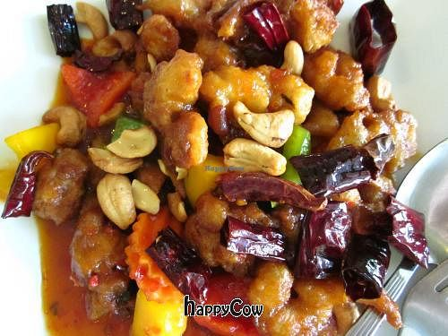 """Photo of Loving Hut - Bang Kholaem  by <a href=""""/members/profile/annette"""">annette</a> <br/>'chicken' with cashew nuts. 'Chicken' deep fried and inedible <br/> April 4, 2013  - <a href='/contact/abuse/image/18022/46515'>Report</a>"""
