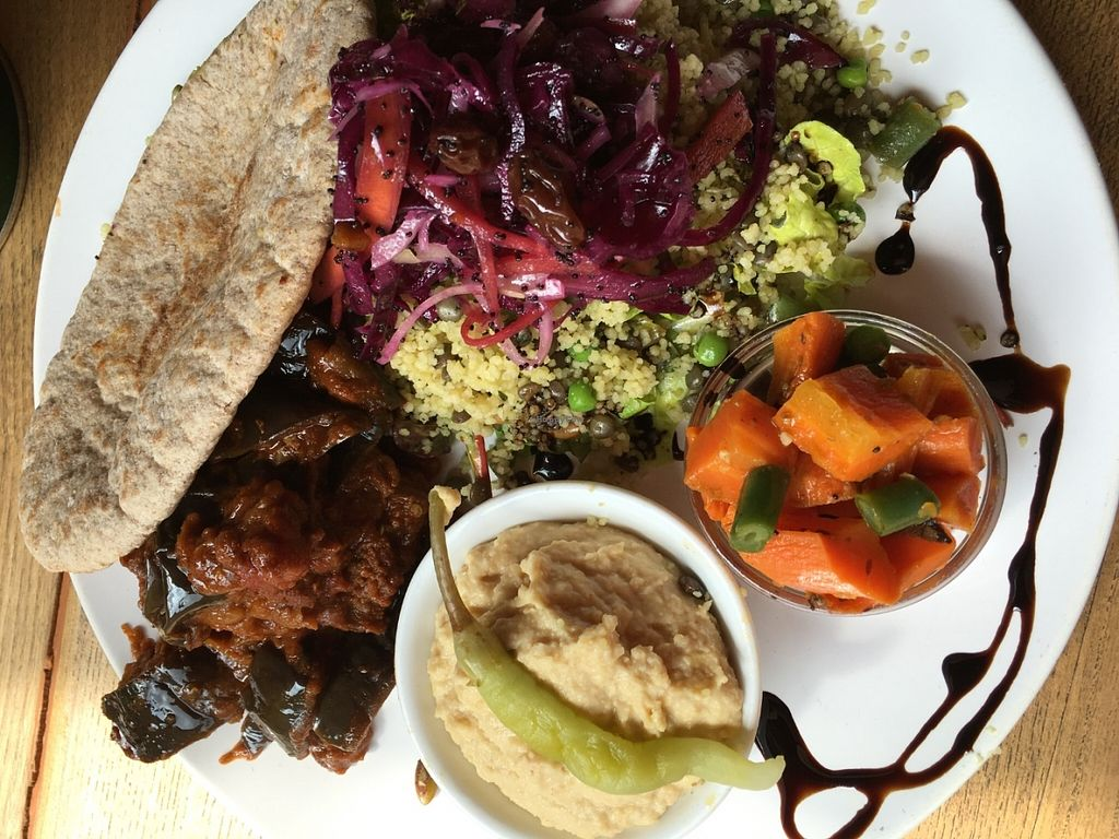 "Photo of F.east  by <a href=""/members/profile/Nickysr"">Nickysr</a> <br/>Vegan Aubergine mezze <br/> June 11, 2016  - <a href='/contact/abuse/image/18101/153522'>Report</a>"
