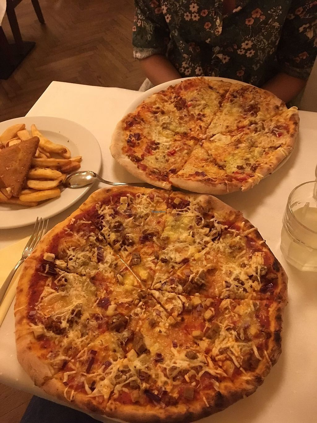 """Photo of Napfenyes Restaurant and Pastry Shop  by <a href=""""/members/profile/Charl295"""">Charl295</a> <br/>Pizzas, steak fries and breaded fried cheese <br/> April 12, 2018  - <a href='/contact/abuse/image/18107/384484'>Report</a>"""