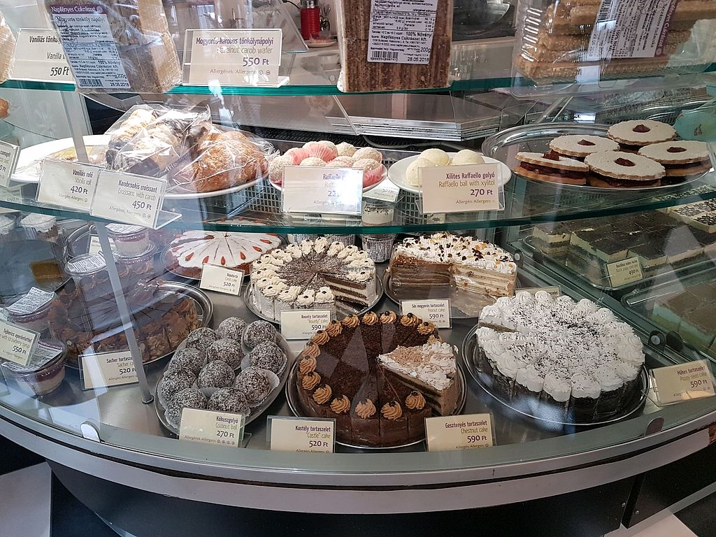 """Photo of Napfenyes Restaurant and Pastry Shop  by <a href=""""/members/profile/LauraBanana"""">LauraBanana</a> <br/>cake options 1 <br/> April 28, 2018  - <a href='/contact/abuse/image/18107/392051'>Report</a>"""