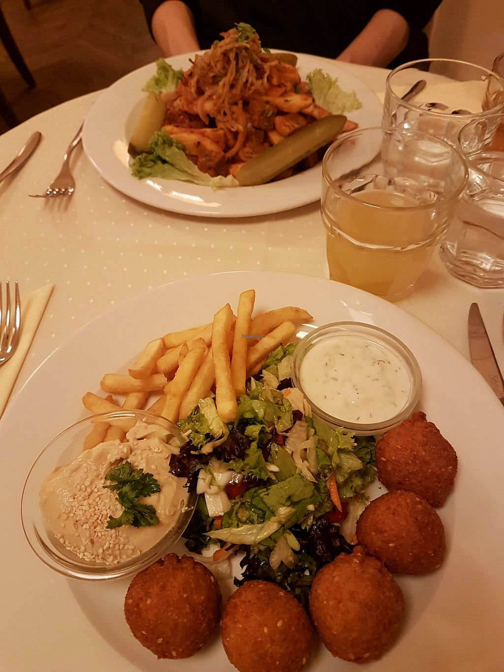 """Photo of Napfenyes Restaurant and Pastry Shop  by <a href=""""/members/profile/LauraBanana"""">LauraBanana</a> <br/>falafel and chips. steak and chips <br/> April 28, 2018  - <a href='/contact/abuse/image/18107/392055'>Report</a>"""