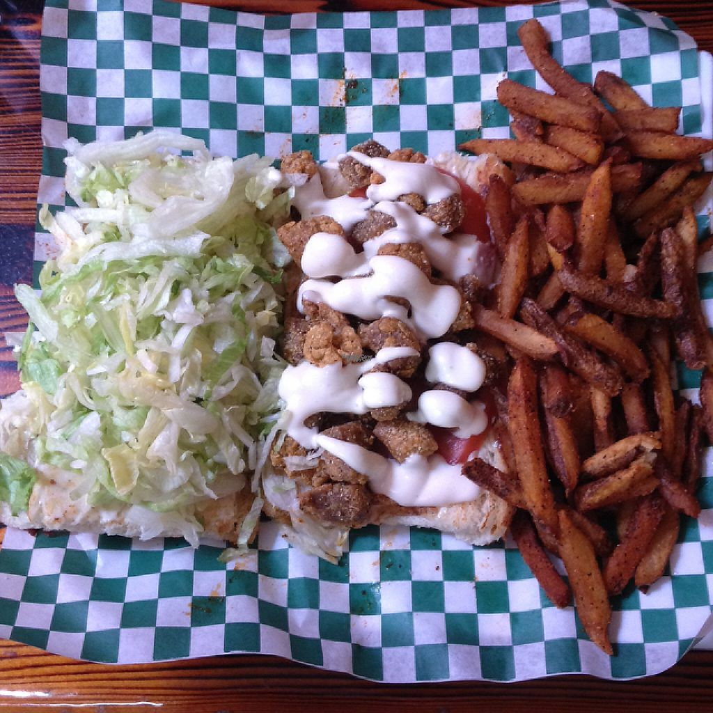 """Photo of Souley Vegan  by <a href=""""/members/profile/Julianabanana"""">Julianabanana</a> <br/>fried shrimp sandwich ?  <br/> January 15, 2017  - <a href='/contact/abuse/image/18109/212043'>Report</a>"""