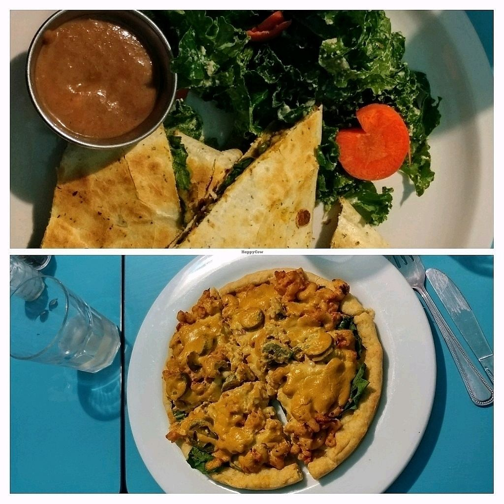 """Photo of Counter Culture  by <a href=""""/members/profile/Emi.S"""">Emi.S</a> <br/>Daily specials: spicy mac and cheese pizza and samosa quesadilla with chutney <br/> January 8, 2018  - <a href='/contact/abuse/image/18120/344489'>Report</a>"""