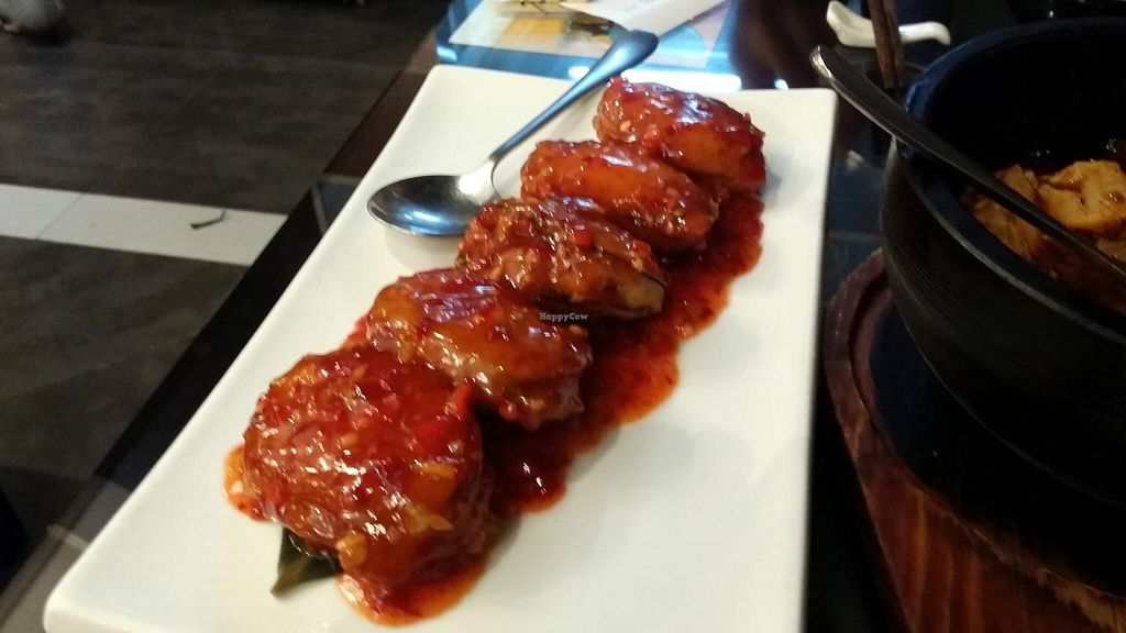 """Photo of SUHU - Vegetarian Tiger - Huayuan Building  by <a href=""""/members/profile/jungsiah"""">jungsiah</a> <br/>Braised eggplant in sweet and sour sauce - one of the best things there!  <br/> May 21, 2015  - <a href='/contact/abuse/image/18162/102940'>Report</a>"""