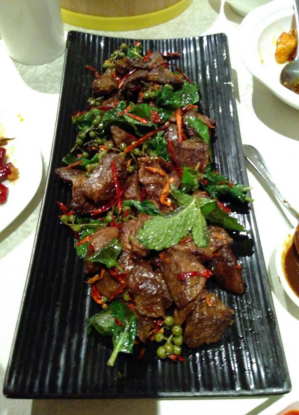 """Photo of Bowei Tang  by <a href=""""/members/profile/mcld"""">mcld</a> <br/>notbeef and szechuan pepper <br/> October 21, 2017  - <a href='/contact/abuse/image/18167/317285'>Report</a>"""