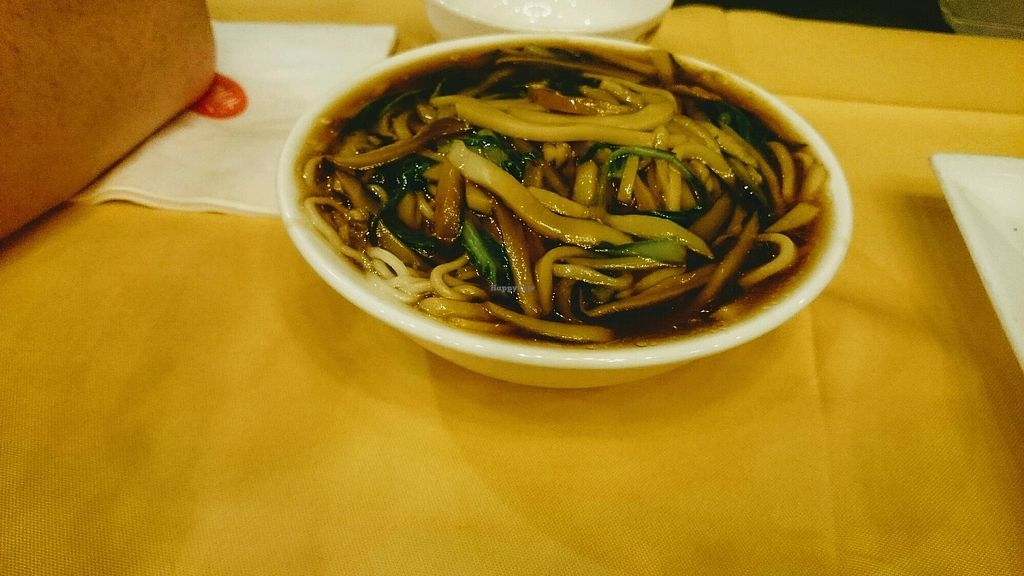 """Photo of Gongdelin Vegetarian Restaurant  by <a href=""""/members/profile/MonikaZar"""">MonikaZar</a> <br/>Noodles. The picture on the menu presented just dry noodles which was what we wanted but they came like this - still tasty though <br/> February 21, 2018  - <a href='/contact/abuse/image/18228/362075'>Report</a>"""