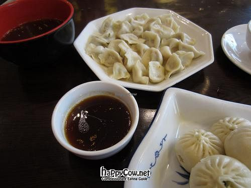 "Photo of Tianlong Baoyan Vegetarian  by <a href=""/members/profile/procrastinasian"">procrastinasian</a> <br/>Dumplings - huge portion! <br/> May 25, 2012  - <a href='/contact/abuse/image/18259/32267'>Report</a>"