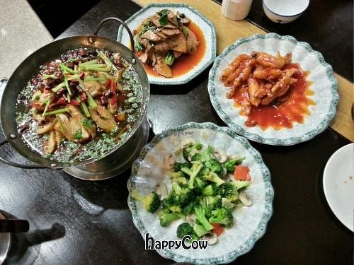 """Photo of Daxingshan Temple Vegetarian  by <a href=""""/members/profile/psiphi75"""">psiphi75</a> <br/>Our meal, it has already been pecked at <br/> November 17, 2012  - <a href='/contact/abuse/image/18260/40345'>Report</a>"""