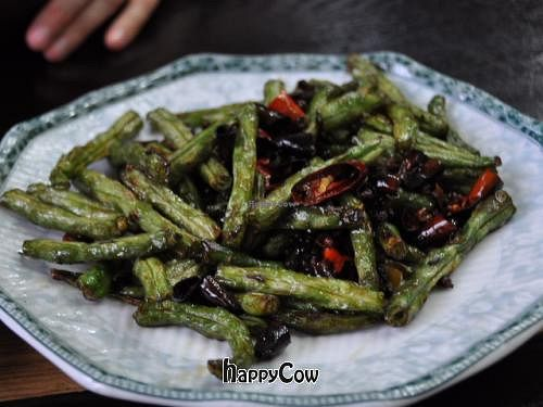 """Photo of Daxingshan Temple Vegetarian  by <a href=""""/members/profile/mrswonderstuff"""">mrswonderstuff</a> <br/>Green beans <br/> June 22, 2013  - <a href='/contact/abuse/image/18260/50039'>Report</a>"""