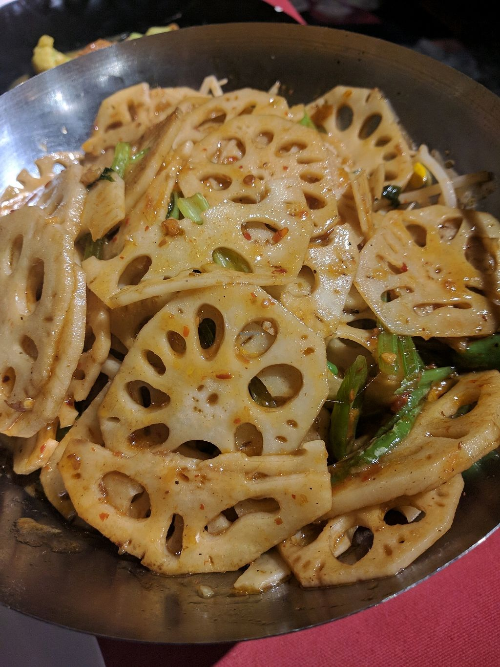 """Photo of Na Di Vegetarian  by <a href=""""/members/profile/VeganSoapDude"""">VeganSoapDude</a> <br/>Lotus root <br/> October 10, 2017  - <a href='/contact/abuse/image/18314/313841'>Report</a>"""