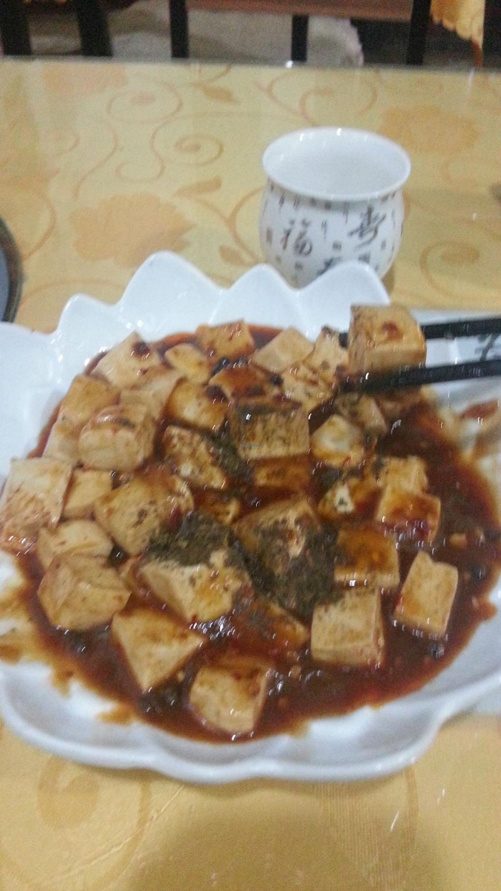 """Photo of Fu Yuan Ge Vegetarian Restaurant  by <a href=""""/members/profile/veganpower1"""">veganpower1</a> <br/>Chili Tofu  <br/> April 23, 2015  - <a href='/contact/abuse/image/18315/100062'>Report</a>"""