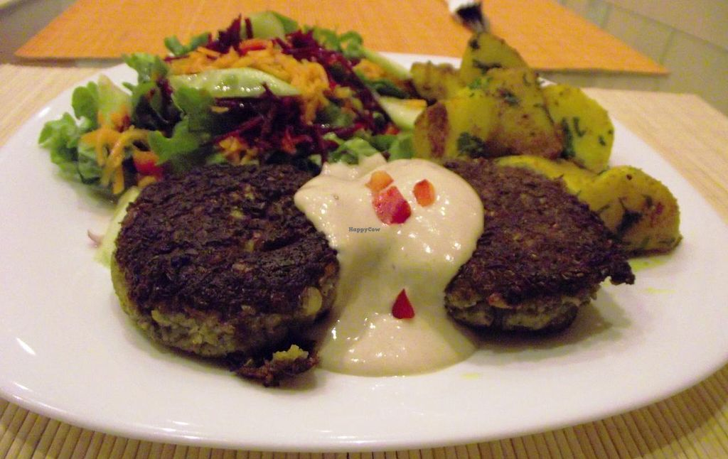 """Photo of Kring  by <a href=""""/members/profile/Joanna%20Karatsaneva"""">Joanna Karatsaneva</a> <br/>Meatballs made from sprouted lentils <br/> March 1, 2014  - <a href='/contact/abuse/image/18330/65028'>Report</a>"""