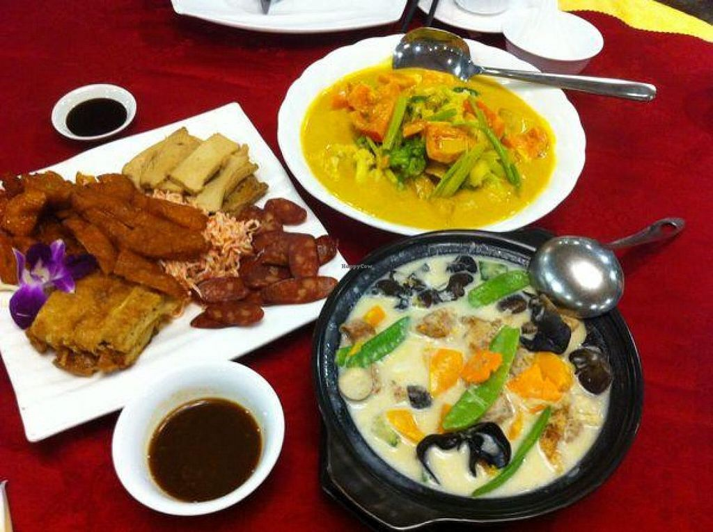 "Photo of Fo You Yuan Vegetarian  by <a href=""/members/profile/Jrosworld"">Jrosworld</a> <br/>The vegetarian 'meat' platter with a couple of other things. I can't remember what they were, but they were good <br/> October 19, 2014  - <a href='/contact/abuse/image/18337/83443'>Report</a>"