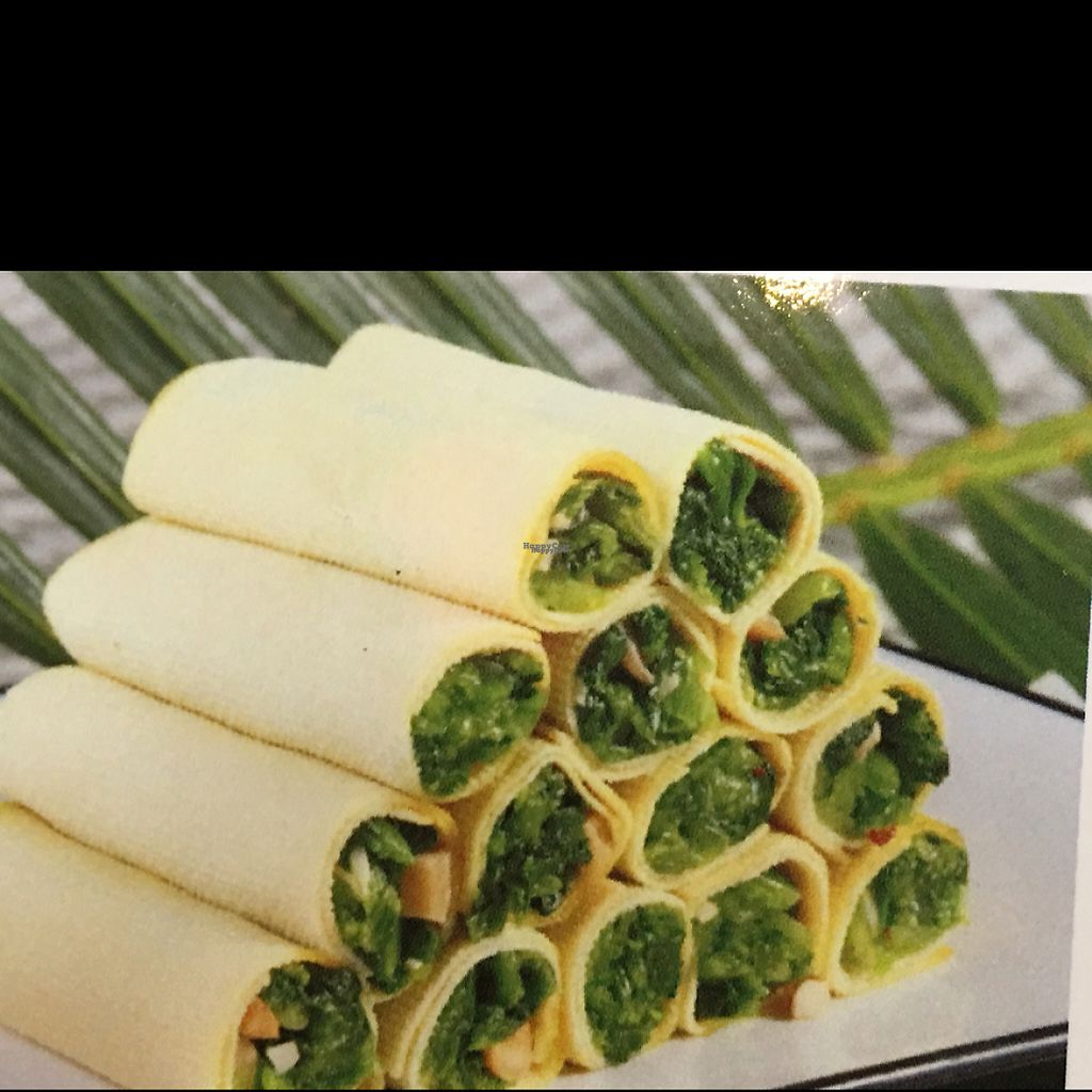 """Photo of Shan Ding Dong Ren - Caveman Vegetarian Teahouse  by <a href=""""/members/profile/ScottieT37"""">ScottieT37</a> <br/>veggies wrapped in tofu sheets <br/> March 4, 2017  - <a href='/contact/abuse/image/18363/232412'>Report</a>"""
