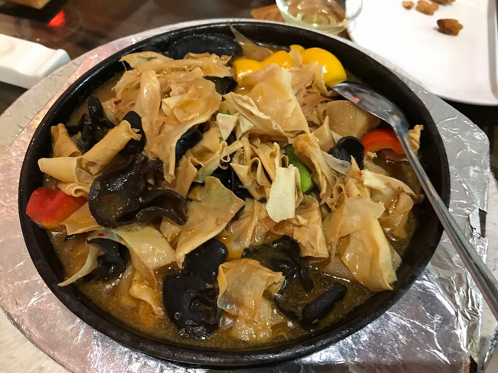 """Photo of Shan Ding Dong Ren - Caveman Vegetarian Teahouse  by <a href=""""/members/profile/VeganRambo"""">VeganRambo</a> <br/>Bamboo shoots, super yummy <br/> July 19, 2017  - <a href='/contact/abuse/image/18363/281998'>Report</a>"""