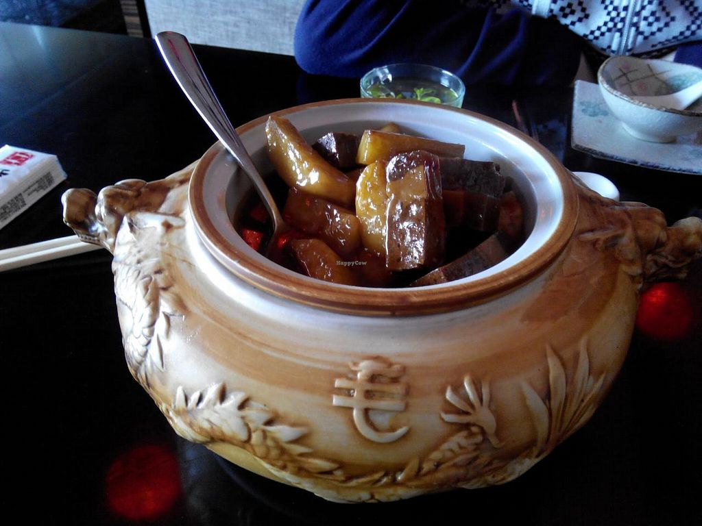 """Photo of Shan Ding Dong Ren - Caveman Vegetarian Teahouse  by <a href=""""/members/profile/CatharineMarie"""">CatharineMarie</a> <br/>Dongpo (?) jar <br/> January 23, 2014  - <a href='/contact/abuse/image/18363/62964'>Report</a>"""