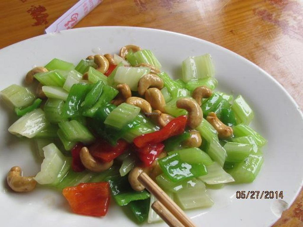 """Photo of Baoguang Temple Vegetarian  by <a href=""""/members/profile/papajonquinn"""">papajonquinn</a> <br/>Delightful Celery, Pepper and Roasted Cashew Dish <br/> May 28, 2014  - <a href='/contact/abuse/image/18381/70961'>Report</a>"""