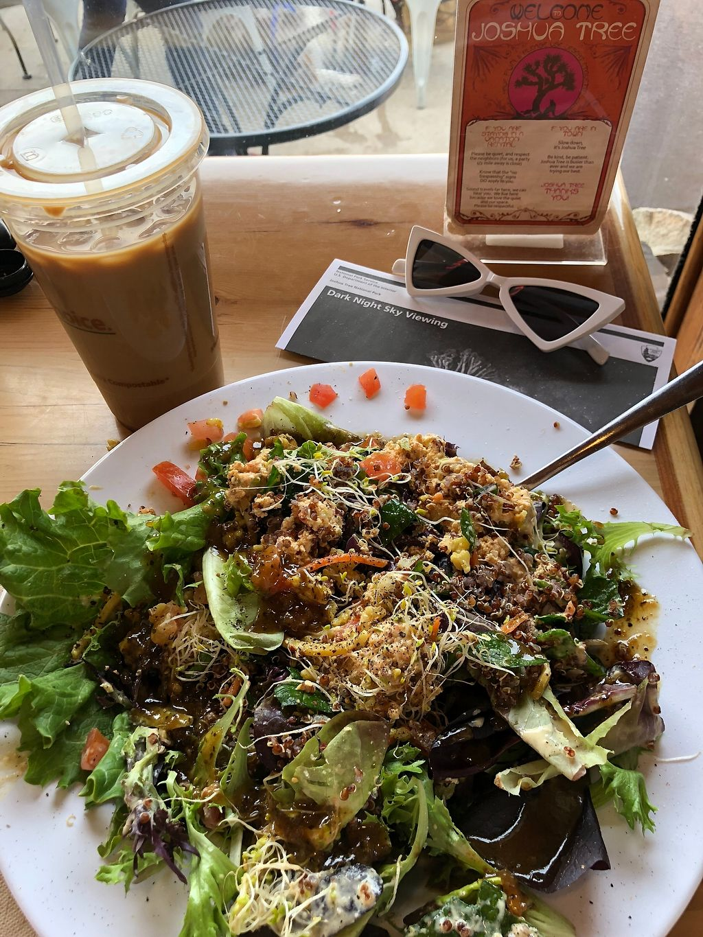 """Photo of Natural Sister Cafe  by <a href=""""/members/profile/defcasoul"""">defcasoul</a> <br/>super fresh greens, great soy latte & vegan carrot cake for dessert! <br/> March 15, 2018  - <a href='/contact/abuse/image/18427/370773'>Report</a>"""